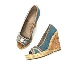 Ivanka Trump | Cork Rope Wedge Heels
